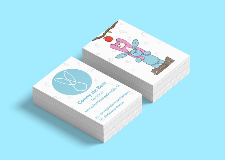 illustratie concept - visitekaartjes