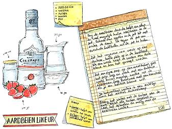 recept illustratie