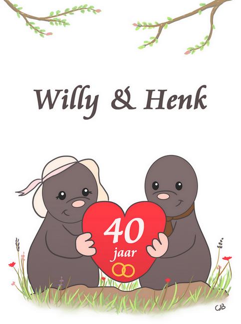 40 jarig huwelijk - Kaart ontwerp