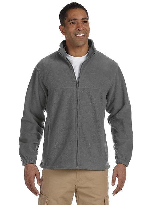 Harriton Men's 8 oz. Full-Zip Fleece (with logo)