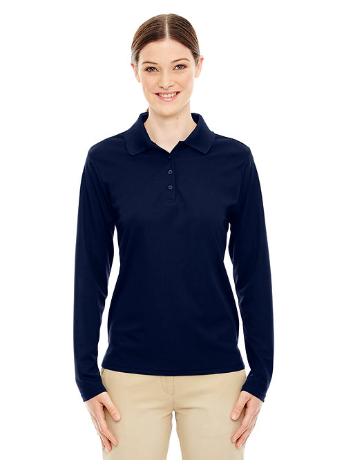 Ladies' Core 365 Performance Long-Sleeve Piqué Polo (with logo)