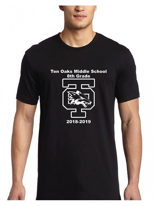 Ten Oaks Middle School Adult T-Shirt