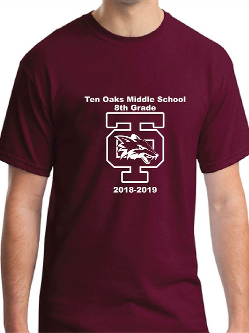 Ten Oaks Middle School Youth T-Shirt