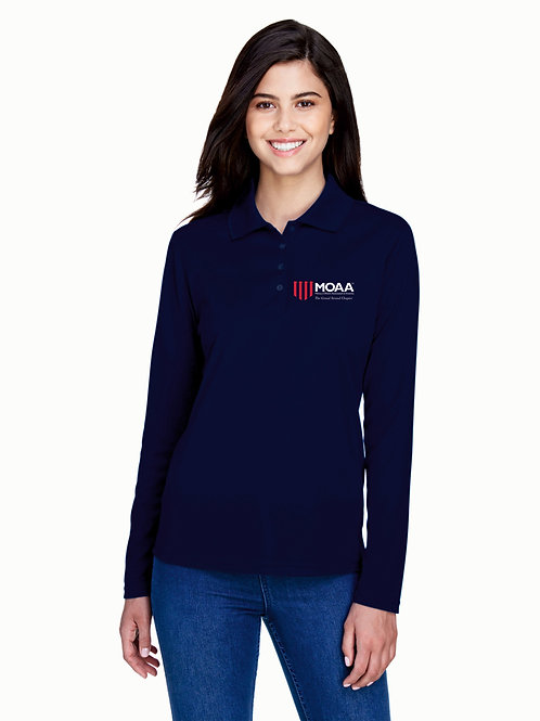 MOAA Grand Strand Ladies' Core 365 Long Sleeved Polo 78192
