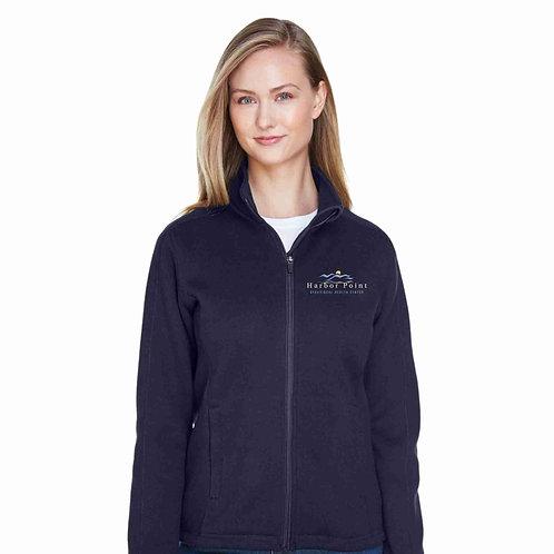 Harbor Point Ladies' Devon & Jones Bristol Full-Zip Sweater Fleece Jacket DG793W