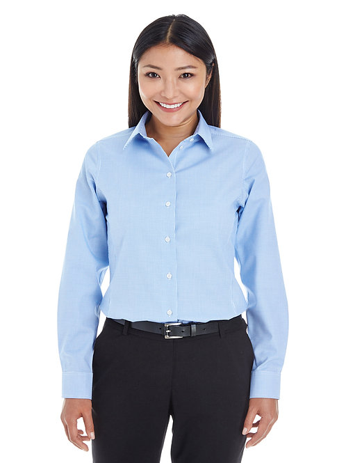 Harbor Point Devon & Jones Ladies' Crown Woven Collection Royal Dobby Shirt