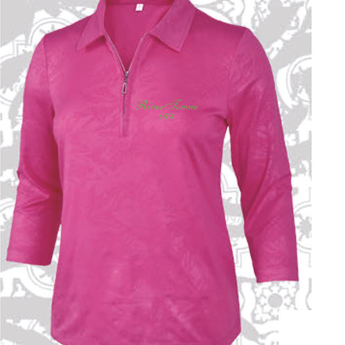 Rivertowne LGA Ladies' Dry Swing 3/4 Sleeve Monterey Club Polo 2458