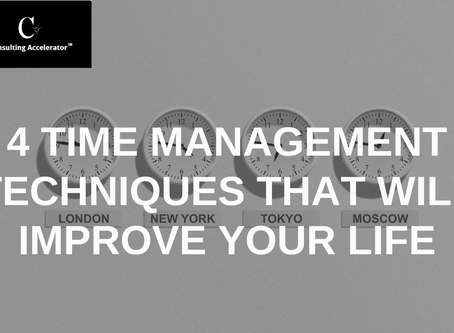 4 Essential Time Management Techniques that will improve your life