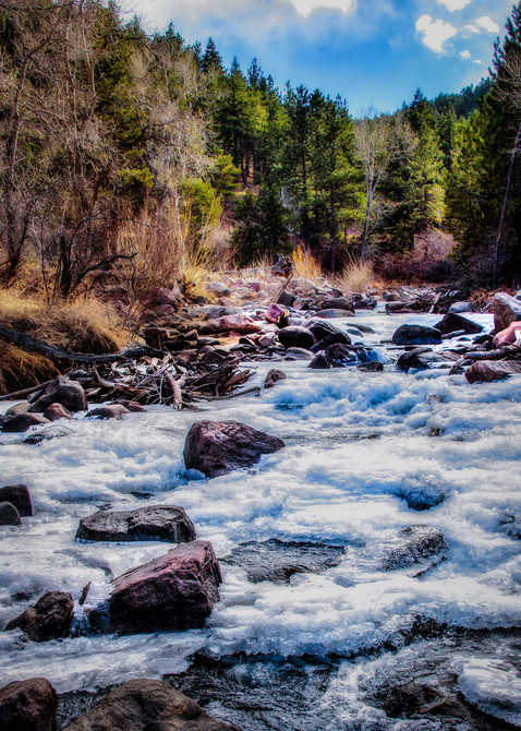 Frozen Lefthand Creek