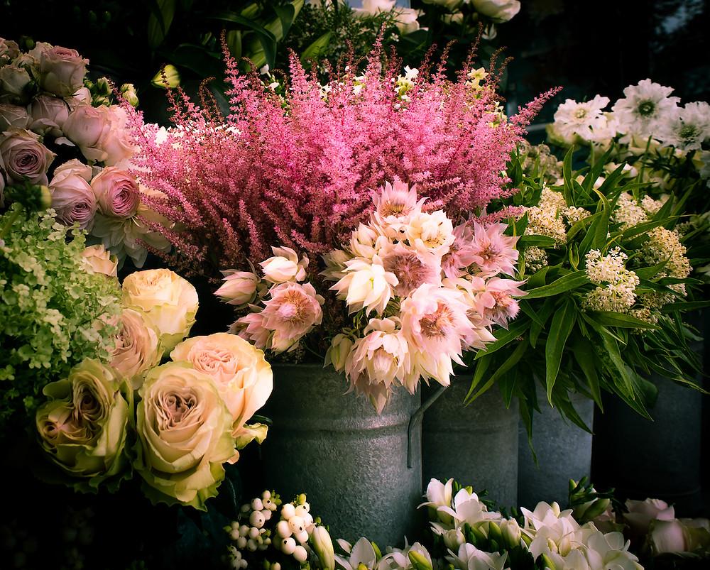 An outdoor florist in Notting Hill
