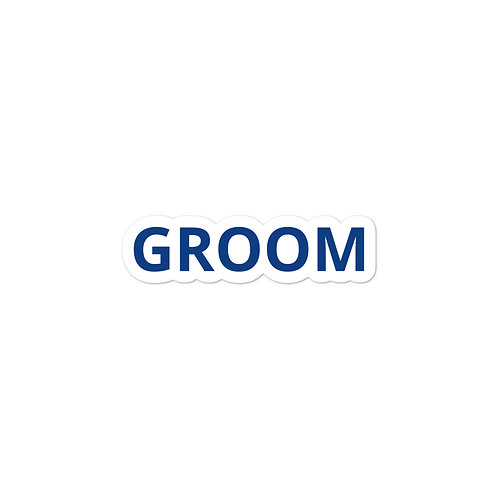 Groom Bubble-free stickers