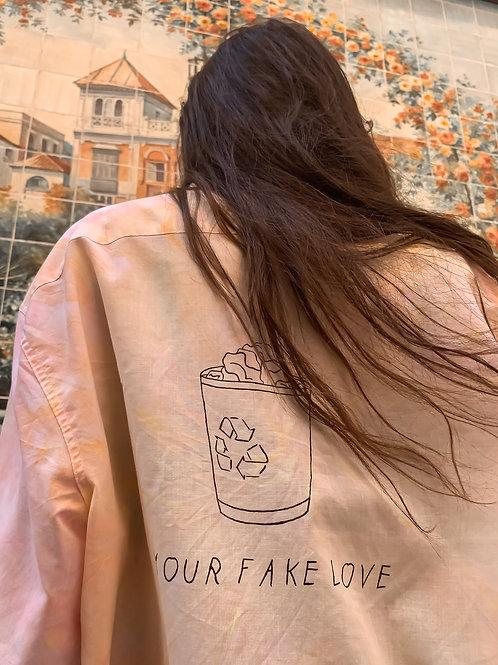 "Camisa vintage ""your fake love"""