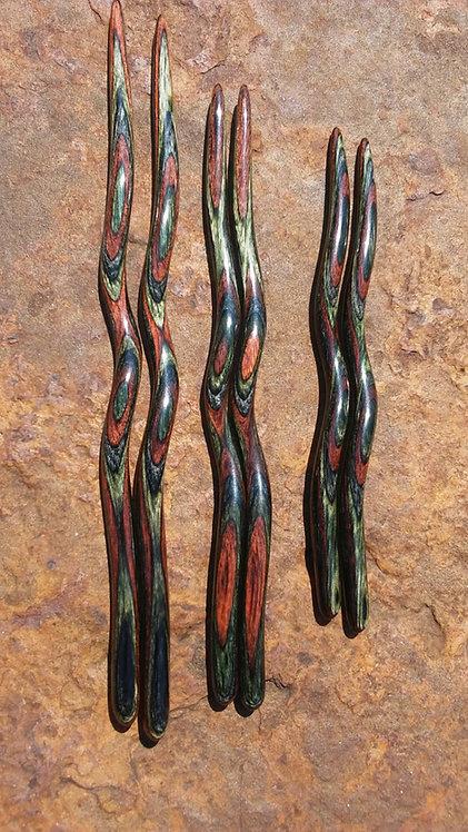 Ketylo Hairsticks DymaLux Green Mountain Camo Single