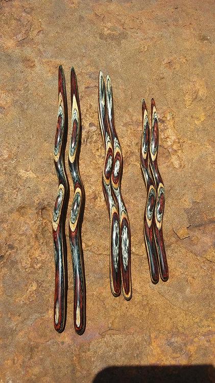 Ketylo Hairsticks DymaLux Buckskin Single