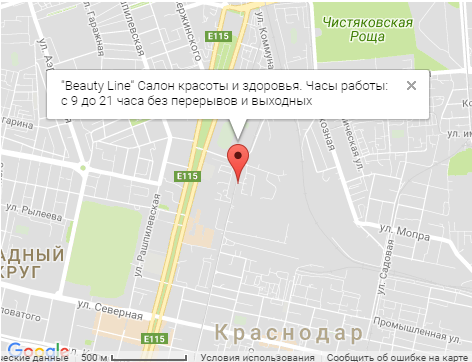 Карта, местонахождение салона красоты и здоровья Beauty Line