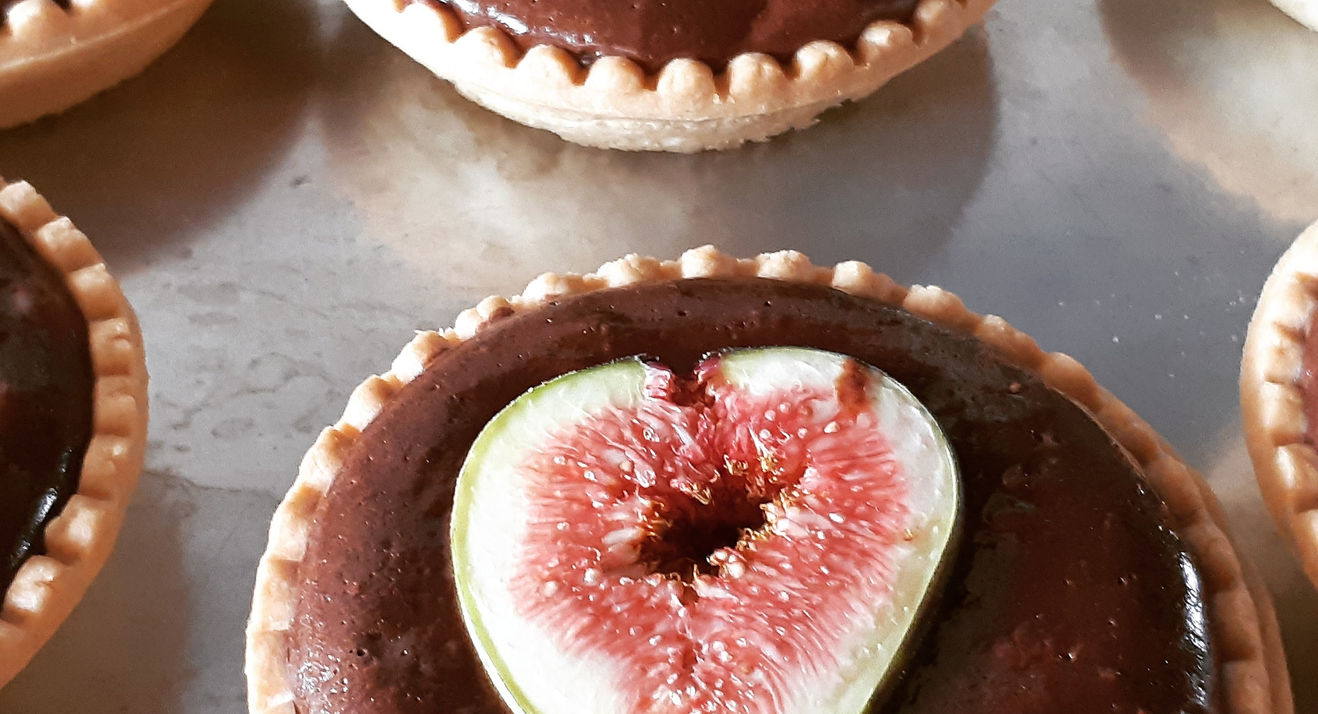 Fig Chocolate Tarts