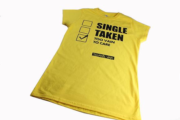 Yellow Ladies 'Too Vain to Care' Tee