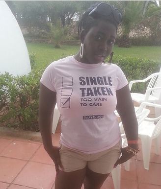 Ladies 'Too Vain to Care' Tee