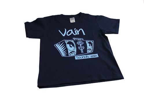 Kids Classic Vain Tee with Blue Logo