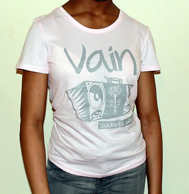 Ladies Classic Vain Tee with Silver Logo