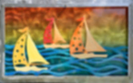 Orange and Yellow Sailboats