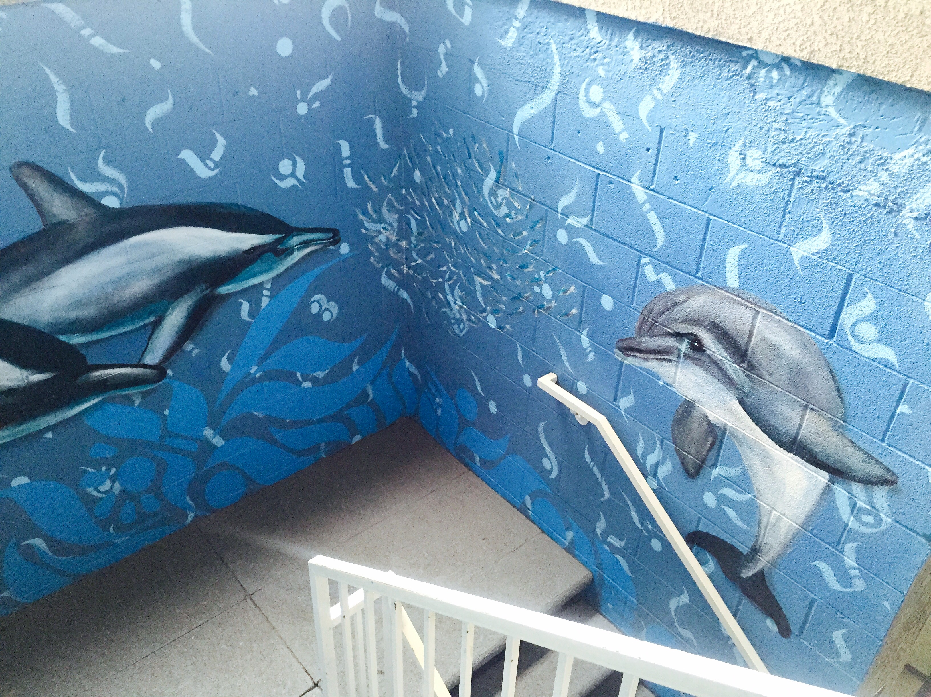 Dolphin Staircase Mural