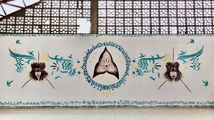 Dracula Orchid Mural