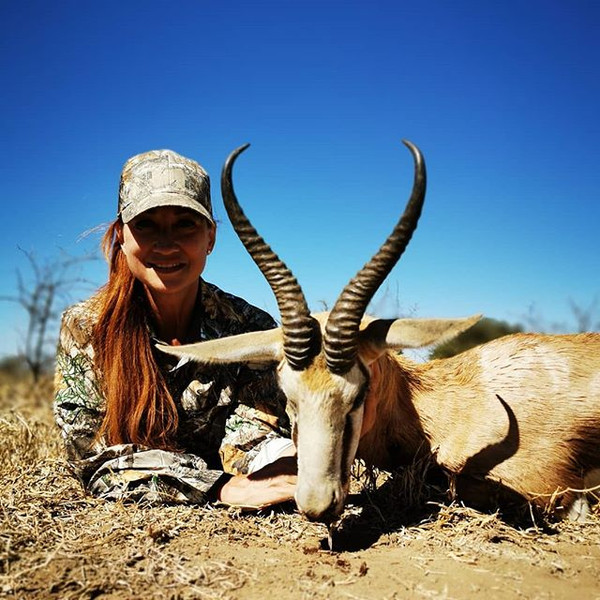 Lisa with an absolute brute Springbuck!!