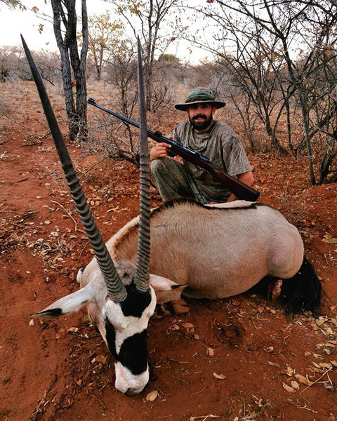 Sterlin and his magnificent Gemsbok bull