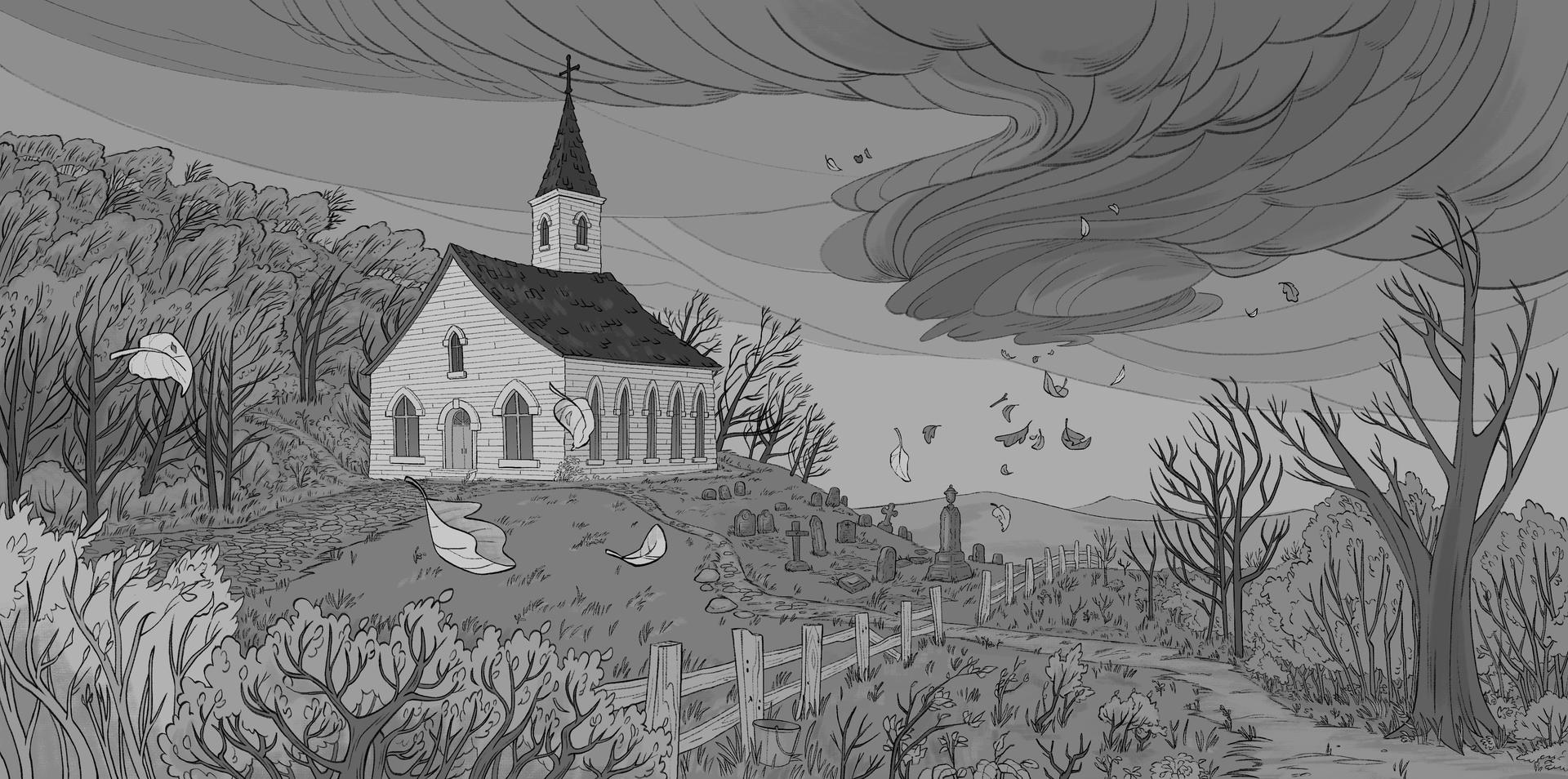 Church in a storm