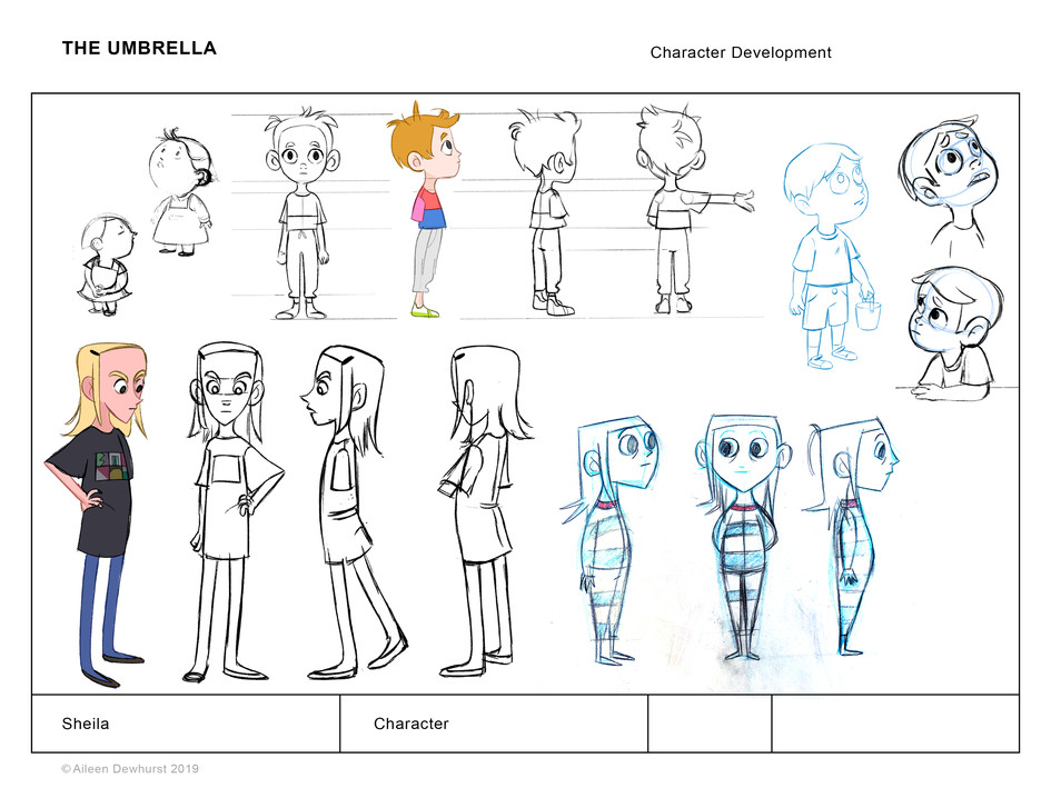 Character Explorations for Sheila
