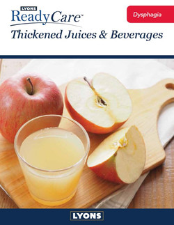 Thickened Juices & Beverages