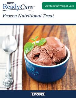 Frozen Nutritional Treats