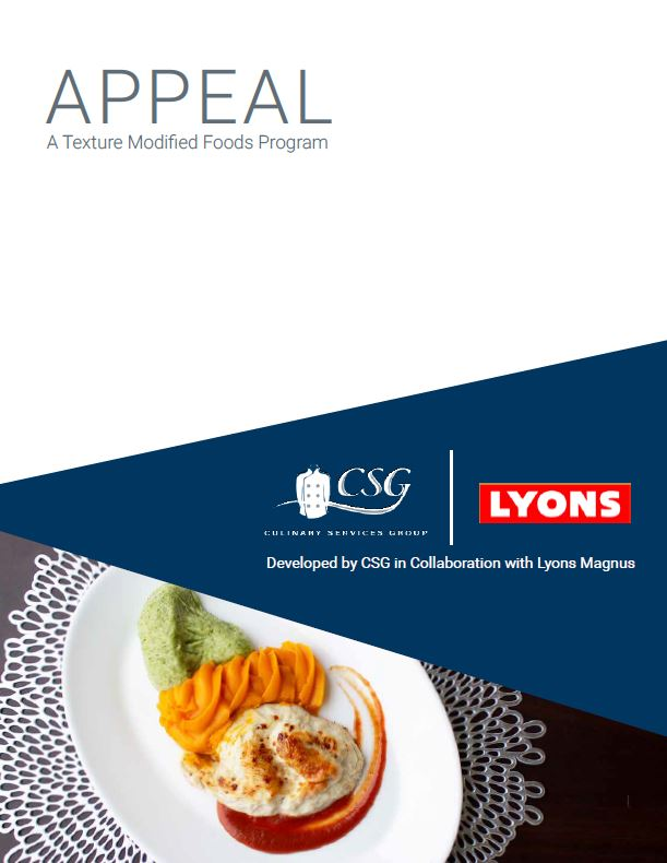 Appeal - A Texture Modified Foods Program