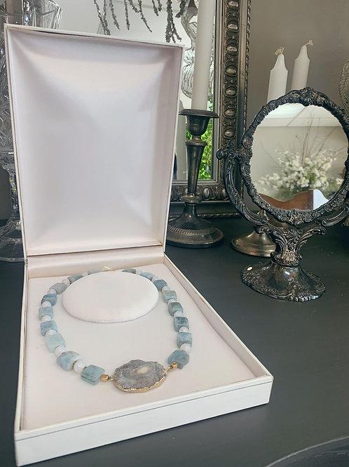 Aquamarine Opal & Geode
