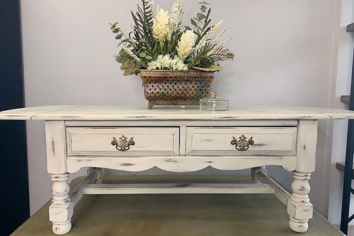 Antique White Distressed Coffee Table