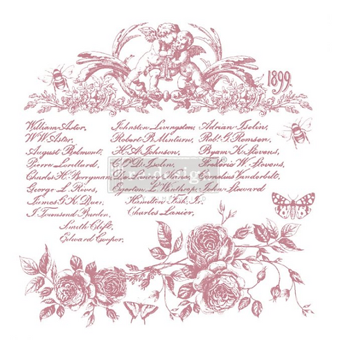 REDESIGN DECOR CLEAR-CLING STAMPS – FLORAL SCRIPT
