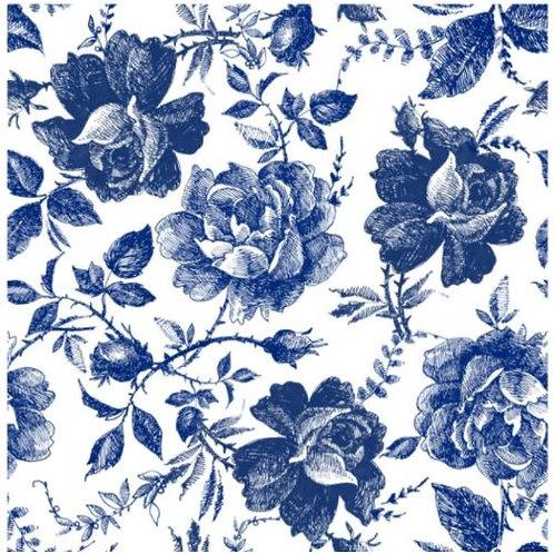 Set #9 Blue Sketched Flowers