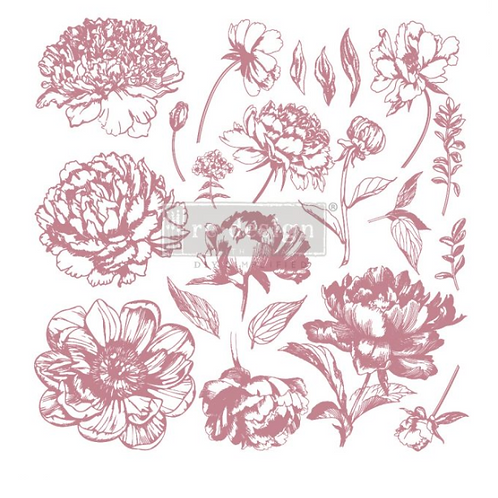 REDESIGN DECOR CLEAR-CLING STAMPS – LINEAR FLORAL
