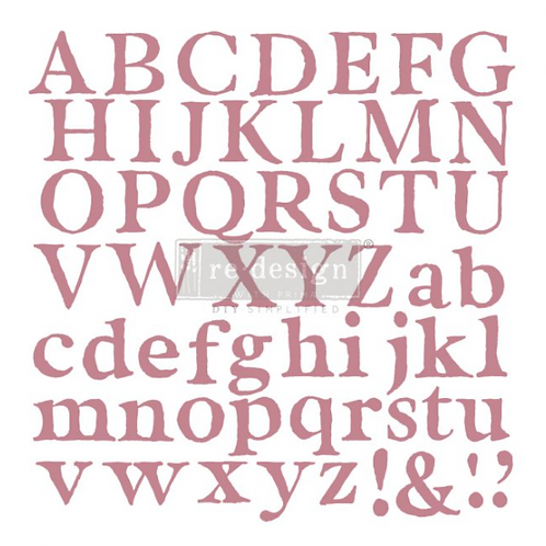 REDESIGN DECOR CLEAR-CLING STAMPS – ALPHA