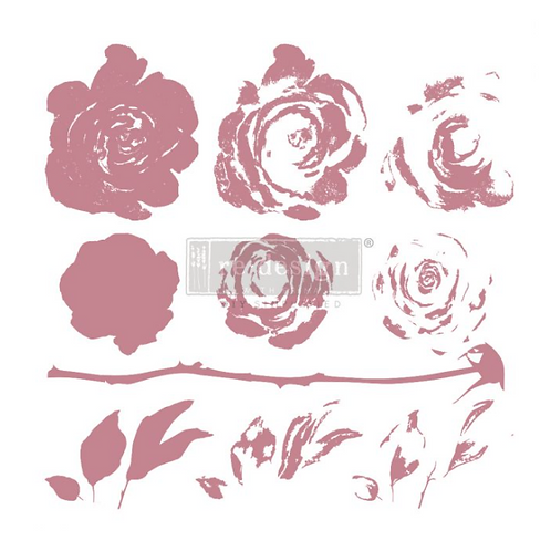 REDESIGN DECOR CLEAR-CLING STAMPS – MYSTIC ROSE