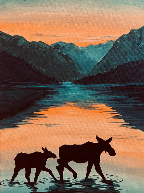 Moose in the mountains, Sunday Sept 20 5-7 pm