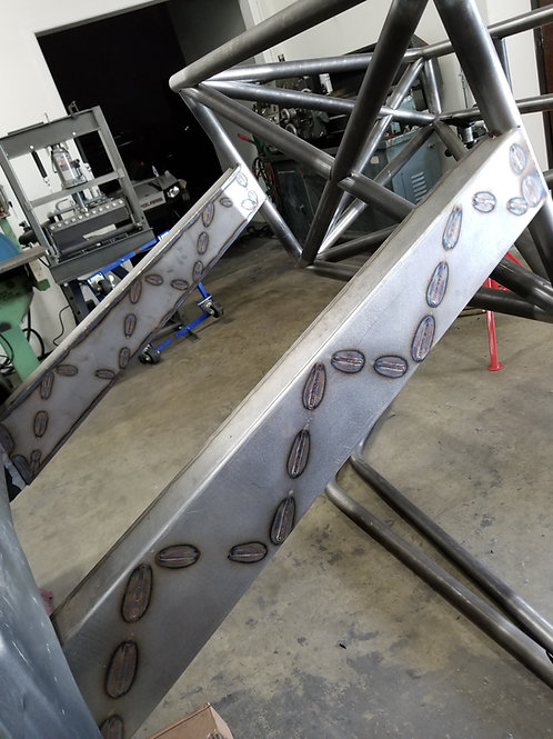 Silverado Boxed Rear Frame Kick Section for Back Halfs and 4-Links
