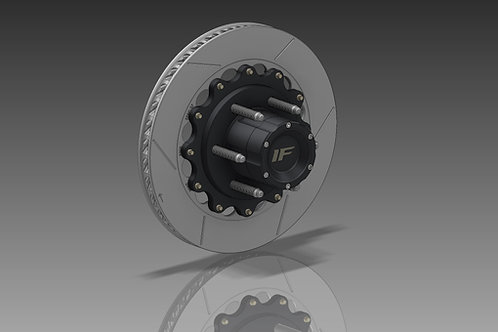 7075 Billet Race Hub with Brake Rotor