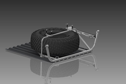 Silverado spare tire bed mount