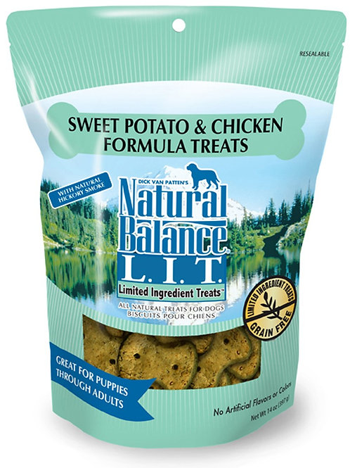 NATURAL BALANCE L.I.T. LIMITED INGREDIENT TREATS SWEET POTATO & CHICKEN