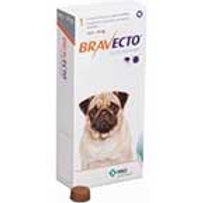 BRAVECTO FOR DOGS - 10 - 22 LBS - ORANGE - 250 MG
