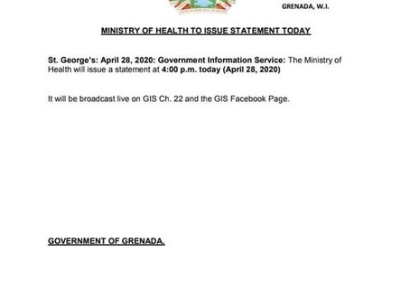 Ministry of Health to issue statement today