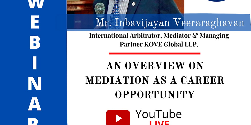 An overview on Mediation as a Career Opportunity