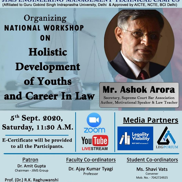 Holistic Development of Youths and Career In Law
